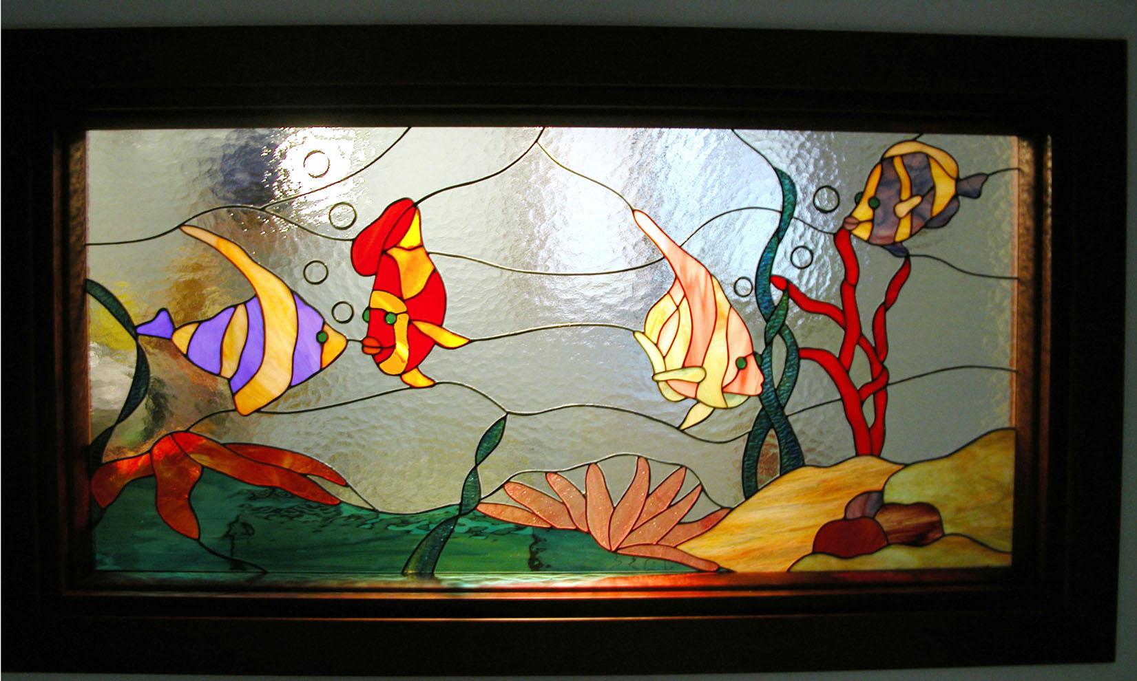 Divisori artistici tiffany vetrate artistiche milano porte finestre e divisori tiffany - Vetri colorati per finestre ...
