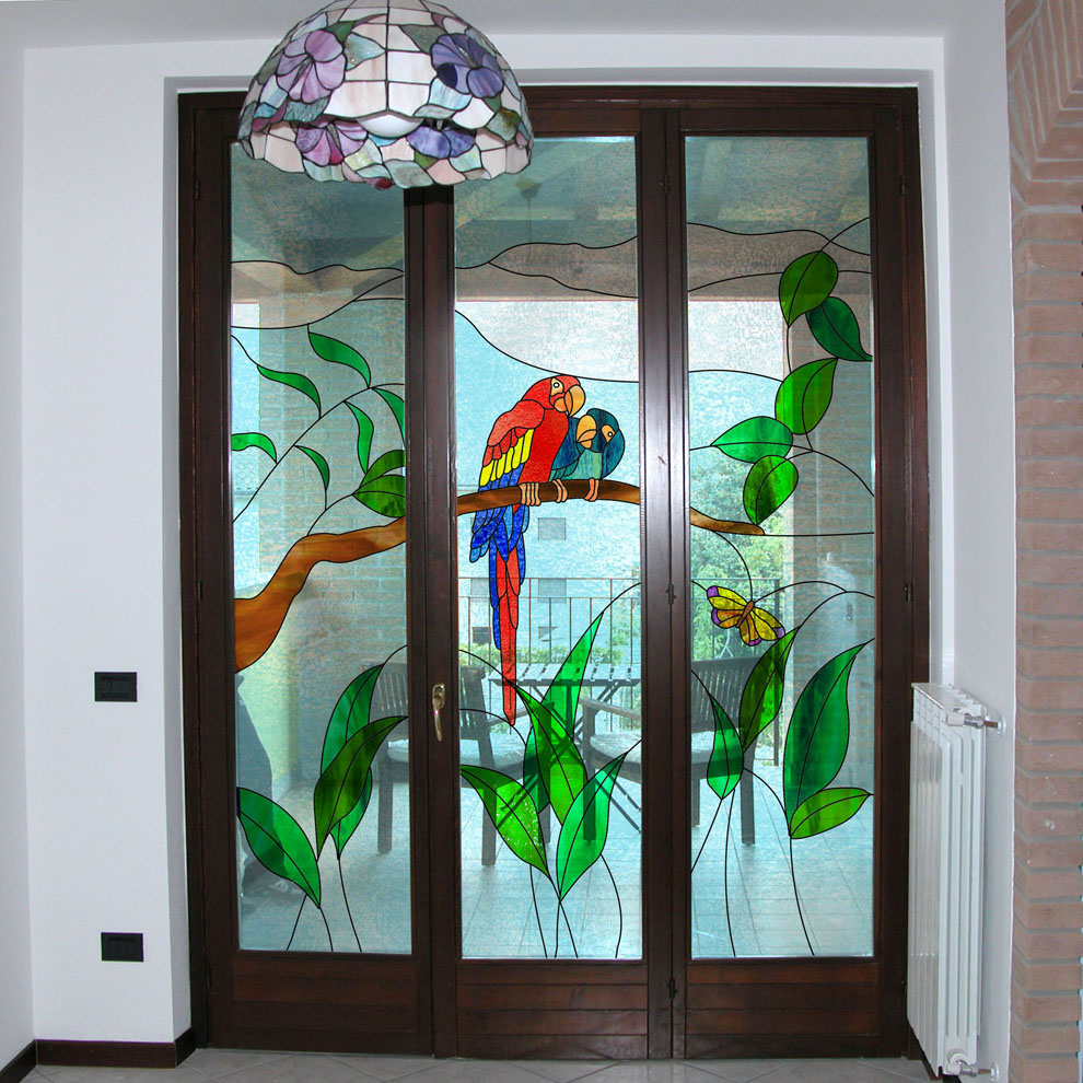 Vetrate per porte vetrate per finestre e divisori vetrate artistiche milano porte finestre - Vetri colorati per finestre ...