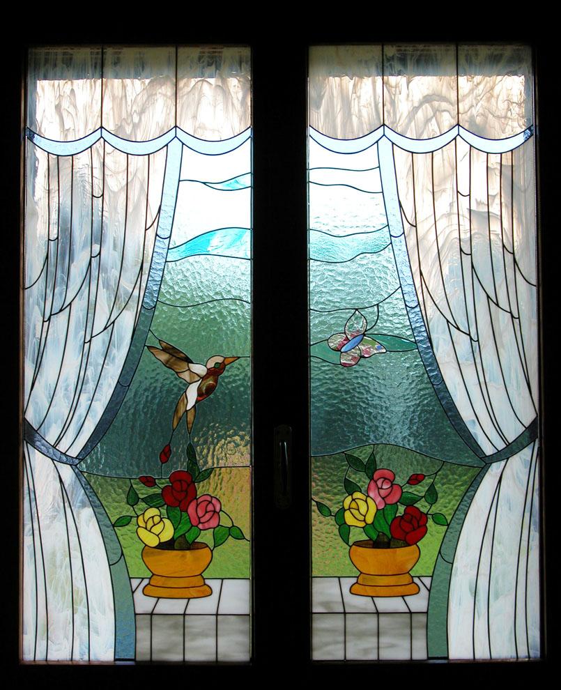 Vetrate per porte vetrate per finestre e divisori - Vetri colorati per finestre ...