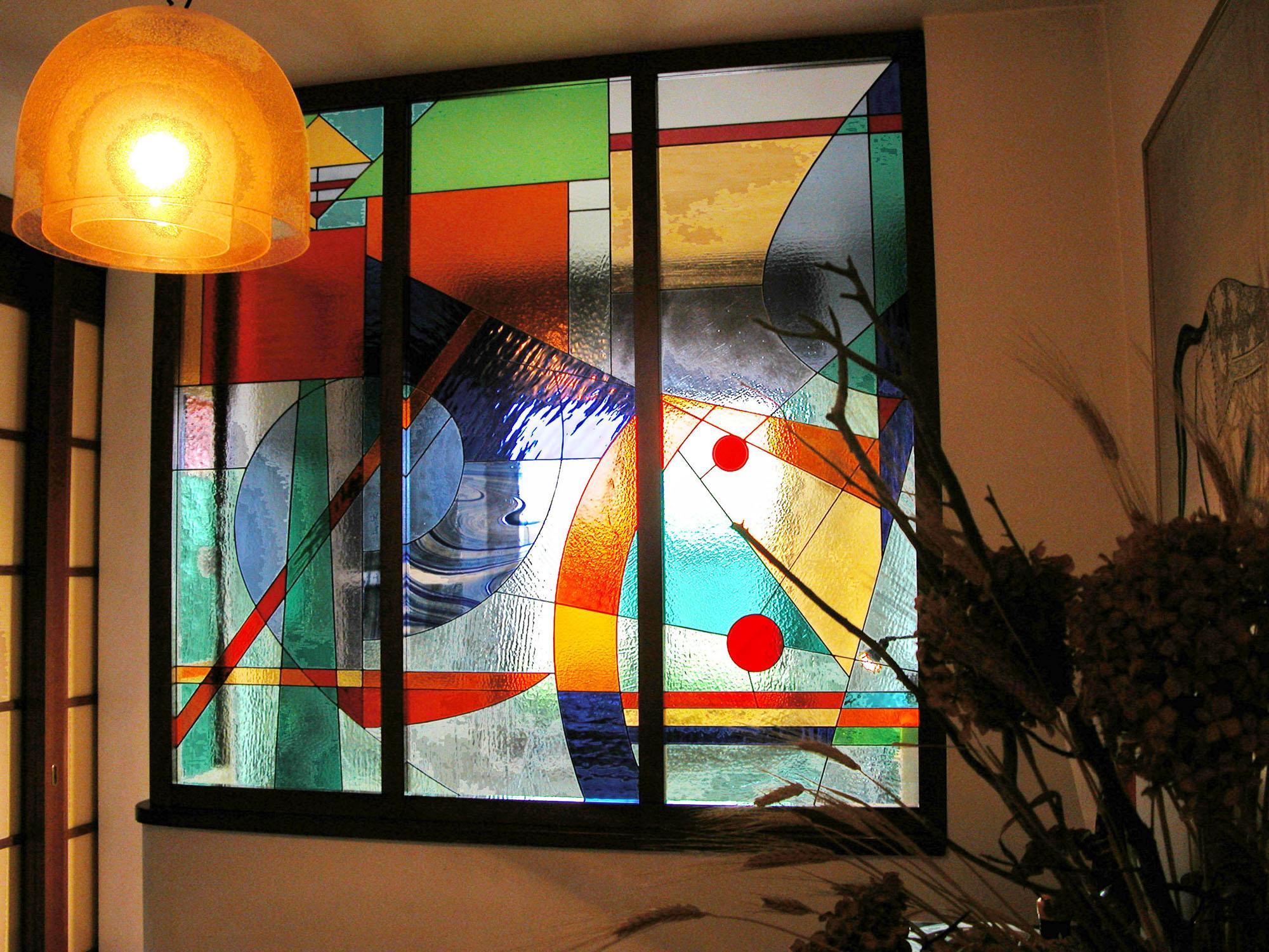 Divisori artistici tiffany vetrate artistiche milano - Vetri colorati per finestre ...