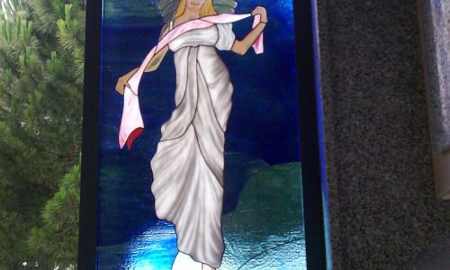 vetrata angelo